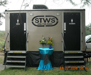 The Celebrity air conditioned restroom trailer!