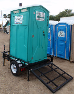 toilet trailer laredo portable economy bathroom south texas waste systems - Bathroom Trailers