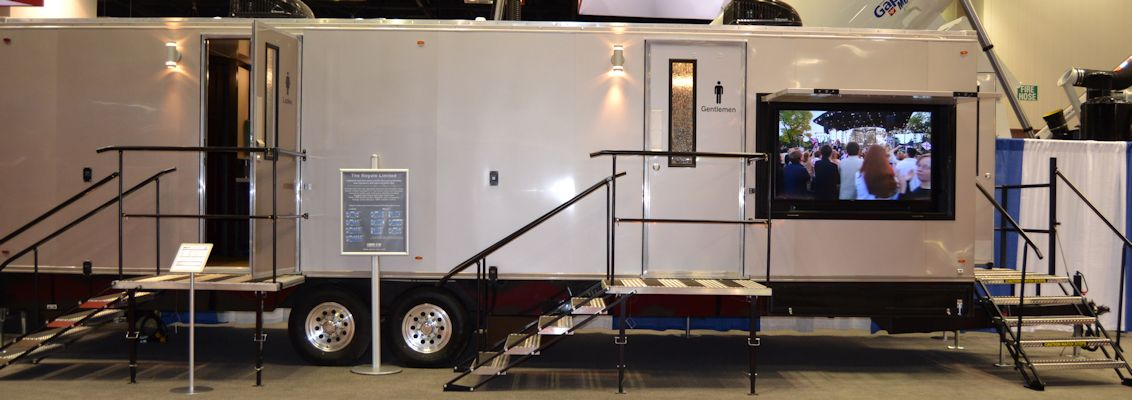 Portable Bathroom Trailers Air Conditioned Laredo STWS Texas Delectable Bathroom Trailers